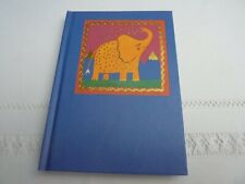 BNWT Elephant Design Lined Note Book A6 Size By Judy Byford
