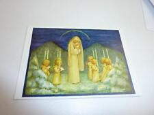 "vintage blank 70` greeting cards  Spötl""maria and angels""1308"""