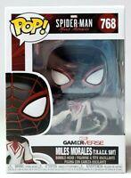 Funko Pop Marvel SPIDER-MAN MILES MORALES (T.R.A.C.K SUIT) 768 Vinyl Figure NEW