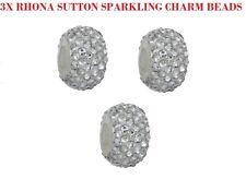 Set di 3 Argento Sterling frizzante CRSYTAL SWAROVSKI Rhona Sutton Ciondolo Perline