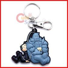 Fullmetal Alchemist Brotherhood PVC Key Chain Edward and Alphonse Rubber by GE