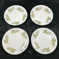 "Set of 4 Vintage WINTERLING BAVARIAN CHINA Dogwood Pattern 6"" Bread Plates"