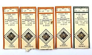 1992 Baltimore Orioles Ticket Stubs Lot of 5 Tickets Camden Yards First Year