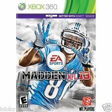 MADDEN NFL 13 w/ Calvin Johnson #81 Cover EA Sports Football Xbox 360 New