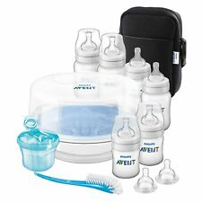 Avent Baby Bottle Feeding Essentials Set Inc. Steriliser / Teats / Brush / Bag