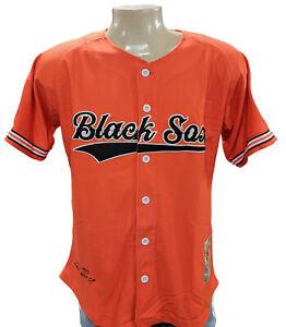 Headgear Classics Orange Baltimore Black Sox Button Down Jersey