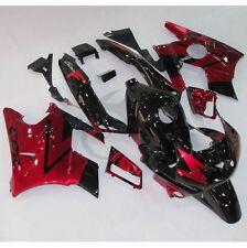 Black Red ABS Plastic Fairing For Honda CBR600 F2 CBR600F2 1991-1994 92 1993 4B