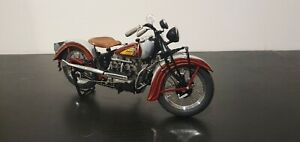 Diecast motorcycle: 1938 Indian Four - The Danbury Mint - 1:10 scale