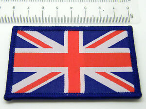 UNION JACK FLAG GB MILITARY BIKER PATCH BADGE SEW ON VELCRO TYPE THICK QUALITY