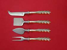 Crest of Arden by Tuttle Sterling Cheese Serving Set 4 Piece HHWS  Custom