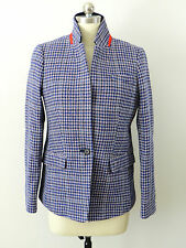 JCrew Regent Blazer Purple Houndstooth Jacket Wool Suiting F4499 $248 Purple 6