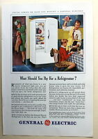 General Electric Refrigerator  Magazine Print Ad 1941 vintage