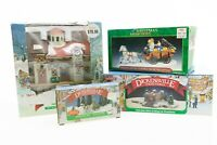 4 Pieces Lemax Noma Dickensville Train Station Bridge with Trees Horse Carriage