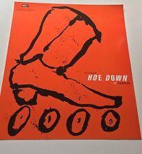 First Eisenbergs Skatepark Hoe Down Showdown Pro Rollerblader Poster