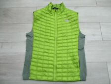 The North Face Mens Thermoball Primaloft Vest Gilet L Green Padded Insulated