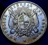 1877 URUGUAY ONE PESO  PARIS MINT  A22-940