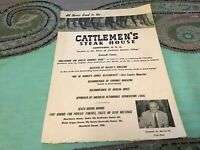 Cattlemen's Steakhouse - Fort Worth, TX. 1950's Vintage Menu Excellent Condition