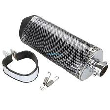 38mm Universal Motorrad Auspuff Schalldämpfer Endtopf Auspuffanlage Carbon Fiber