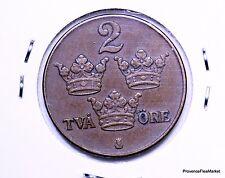 Suède, Gustaf V, 2 Öre, 1941, TTB, Bronze,AC355