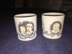 Small China Mugs To Commemorate The Early Birthdays Prince William & Harry.