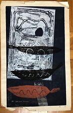 YOSHIHARU KAMURA JAPANESE WOODBLOCK PRINT 1965