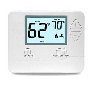 Digital Wall Electronic Non Programmable Thermostat T701 Heat / Cool