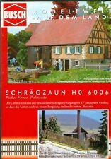 Busch 6006 schrägzaun, Kit di costruzione legno vero, H0