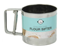 Flour Sifter Cup Stainless Steel Mesh W Sieve Mechanical Baking Icing