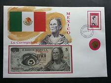 Mexico La Corregidora 1996 Flag Famous Fdc (banknote coin cover *3 in 1 *rare
