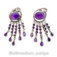 Modernist Sterling Silber Ohrstecker Ohrringe Amethyst silver earring 🌺🌺🌺🌺🌺