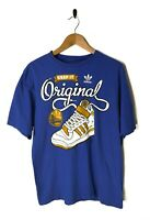 VINTAGE 90s Mens M ADIDAS T-shirt Top Sneeker Basketball Golden State Warriors