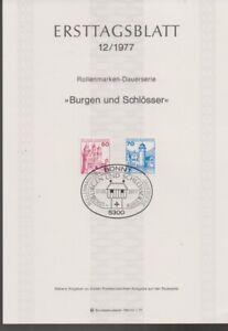 Ersttagsblatt 12/1977 Burgen und Schlösser
