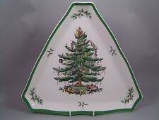 "SPODE Christmas Tree Grande 11 1/2"" piatto triangolare."