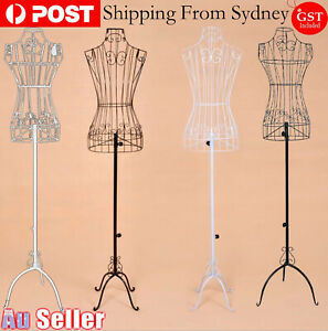 Adjustable Mannequin Metal Iron Cloth Wire Dress Boutique Wedding Holder Display