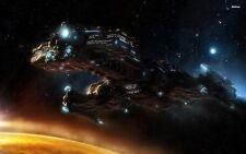 """Poster Silk Starcraft 2 24x36"""" Game wall Decor spacecraft Gun Battle War scene 1"""