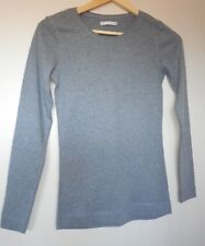 Girls  Grey Cotton Long  Sleeve Size: 8 Top