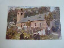 Vintage Postcard Isle of Man Kirk Braddan From S.  E.7653 Franked+Stamped 1923