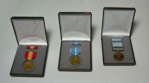Korean War Service 3 Medal Veteran Gift Display Set
