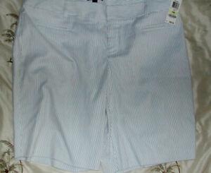 Women's Large (18W) INC-International Concepts $59 Seersucker Shorts  NWT