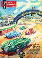 1953 - 24 Hours Le Mans France Automobile Race Car Advertisement Vintage Poster