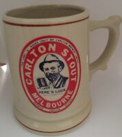 Carlton Stout Ceramic Melbourne Stoneware Beer Mug Stein Here's Luck  Man cave