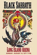 Music Poster Reprint Black Sabbath Long Island Arena 1971