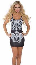 Sexy Skeleton Tank Costume Bone Dress Adult Bones Day of Dead - M 10-12