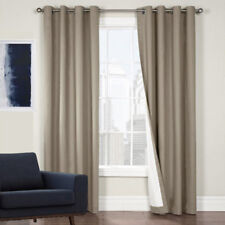 QUICKFIT BLOCKOUT EYELET THERMAL CURTAIN PANEL 4 SIZES LATTE