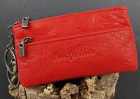 Damen  Leder Schlüsseletui Schlüsseltasche Schlüsselmäppchen Jennifer Jones Rot