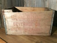 Antique Glen Rock Beverage Co. Crate, Milwaukee Wisconsin Wood Crate K52