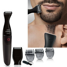 Philips Norelco Cordless Beard Trimmer Shaver Kit Mustache Shape Battery Powered