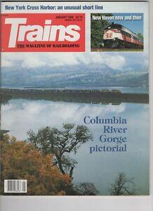 Trains Magazine Railroading January 1989 New Haven  Columbia River Gorge