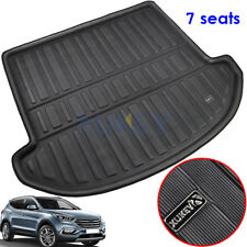 For Hyundai Santa Fe 7 Seats 13-18 Boot Cargo Liner Trunk Mat Tray Floor Carpet