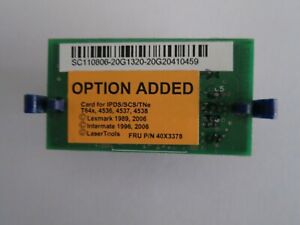 LEXMARK 40X3378 IPDS / SCS CARD FOR T640 / T642 / T644 SERIES PRINTER - REDUCED
